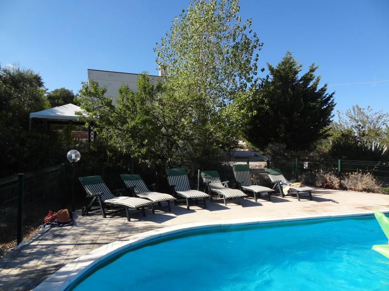 Villa Rosa pool patio area - Villa Rosa - 3 bedroom villa with large pool - Ostuni - rentals
