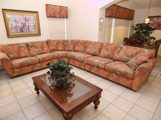 Living Area - S5P217SA 5 Bedroom Holiday Villa with Private Pool Near Disney - Orlando - rentals