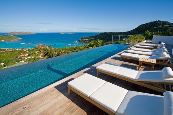 Enjoy endless sea views from this newly constructed, spacious villa. WV RGR - Image 1 - Saint Jean - rentals