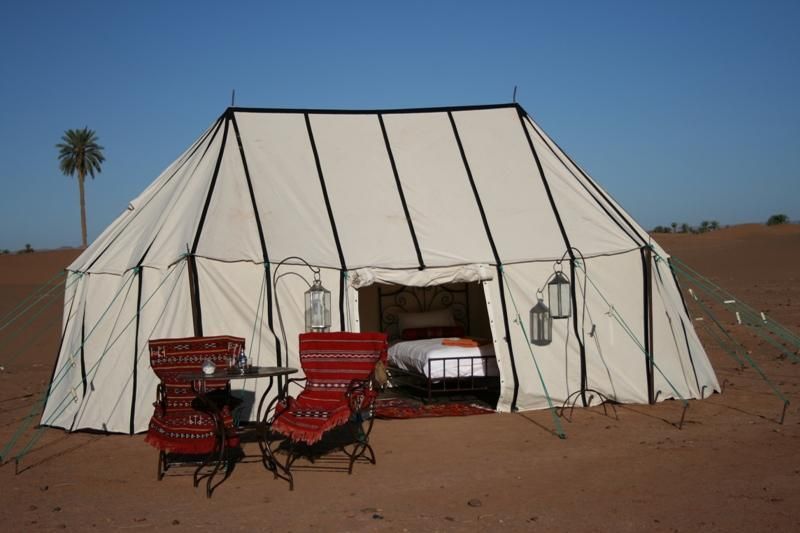 One of the twin-bedded caidal safari tents - Sahara Safari Camp - Oulad Driss - rentals
