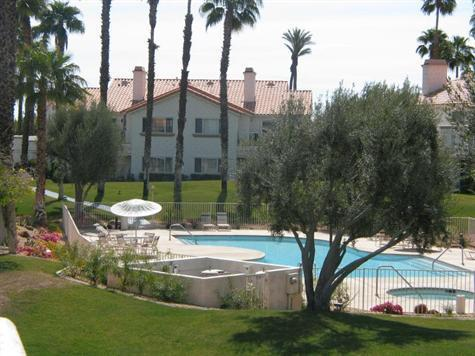 Pool view from the balcony - Beautiful 3 BR/2.5 BA Desert Falls Country Club - Palm Desert - rentals