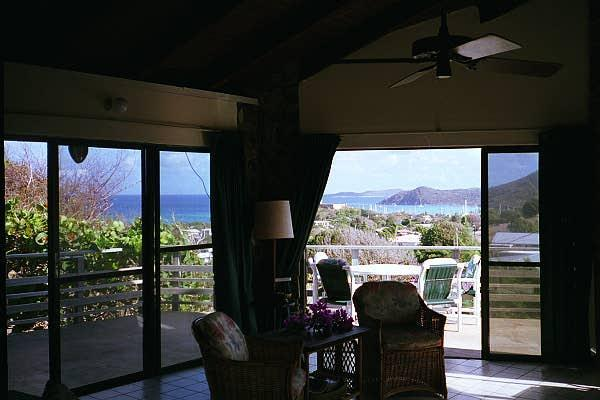 view through living room - Mirabella on Virgin Gorda, BVI - Spanish Town - rentals