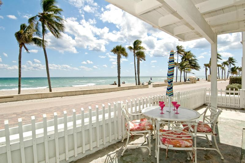 1st floor patio area/part of it - Ocean Front House 5 bed 5 bath Pool or 3/3 - Hollywood - rentals