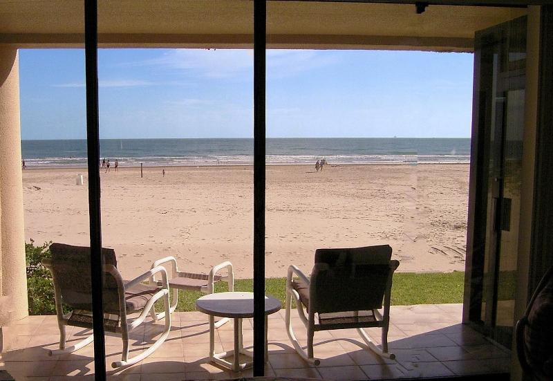 Patio View #119 - Beachfront Ground Floor - Steps to Beach!!! - South Padre Island - rentals