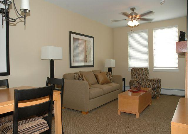 Living Area w/Sofa Sleeper & TV/DVD - Walk to the slopes from this Founders Point one bedroom. - Winter Park - rentals