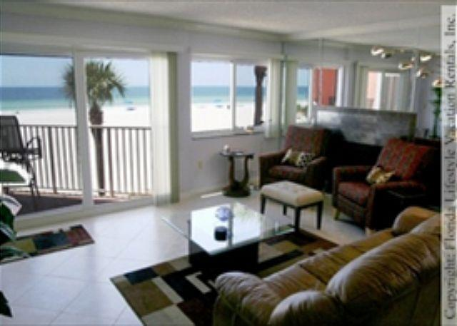 Living Room - Beach Cottage Condominium 1110 - Indian Shores - rentals