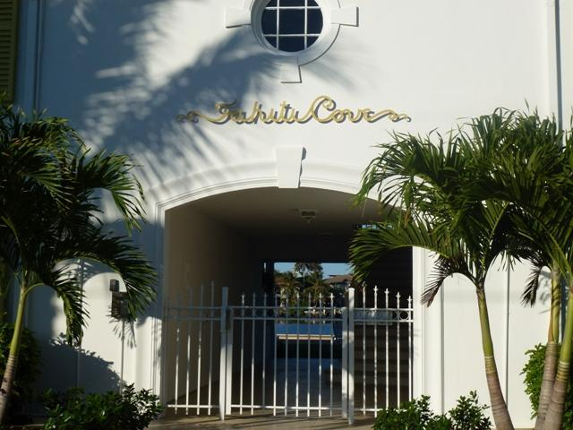 Entry Gate to Property - Tahiti Cove -Waterfront Condo-Walk to Everything - Delray Beach - rentals