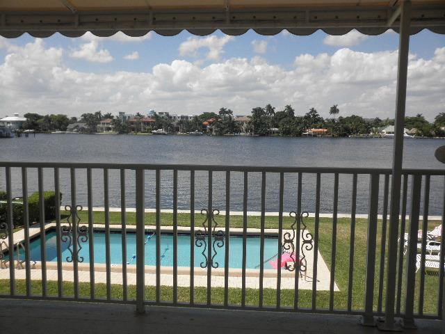 #17 view of Intracostal and Pool area from our balcony - Tahiti Cove -Waterfront Condo-Walk to Everything - Delray Beach - rentals