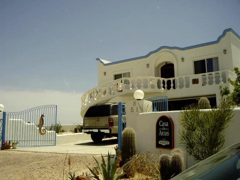 Front entrance-gated parking - Casa de Arcos: 5-6 BR 3000 SF Beach House-Sleeps18 - Puerto Penasco - rentals
