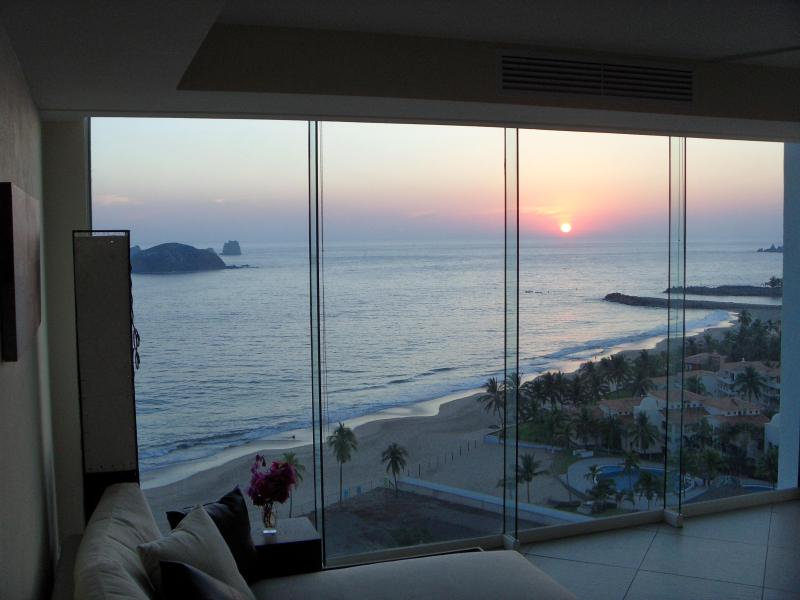 Kitchen View to the Living Room... - BVG Marina - Unbelievable Beachfront Luxury & Ocean Views! (No Additional Fees) - Ixtapa - rentals