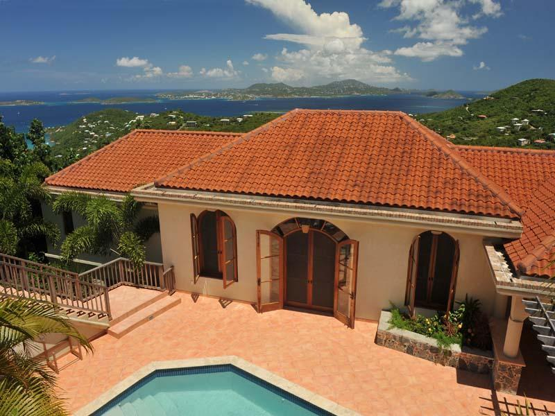Starstruck panoramic views with complete privacy - Starstruck - panoramic views of the sea and stars in a  private and luxury villa - Saint John - rentals