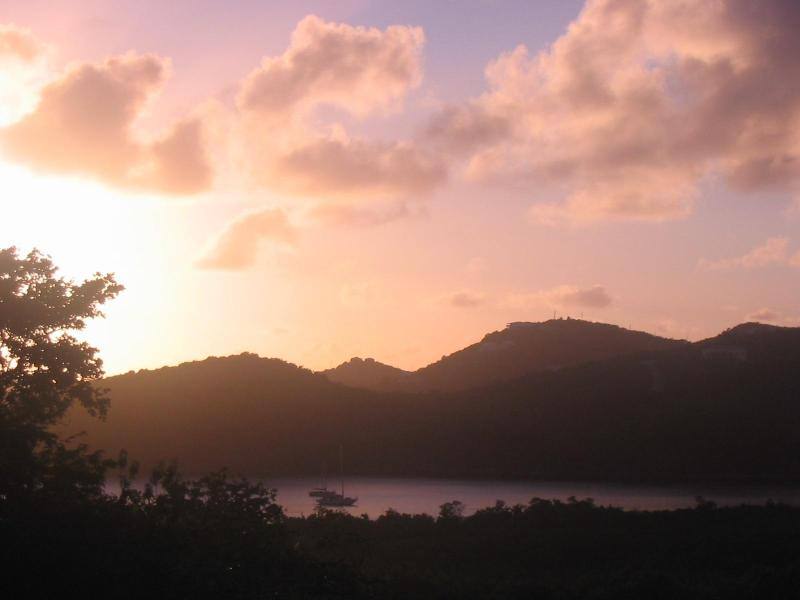 Sunset View from the verandah - Tranquility - Romantic, private, affordable villa - Saint John - rentals