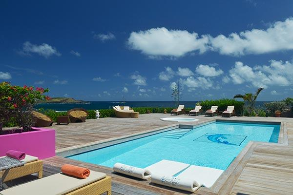 Located in Petit Cul de Sac offering splendid views of the water WV SUN - Image 1 - Saint Barthelemy - rentals