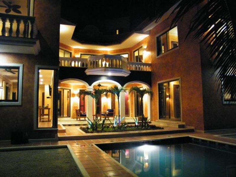 Another night view of house exterior - Casa Perla Top Tulum Vacation Rental 3 yrs running - Tulum - rentals