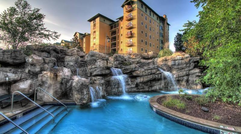 RiverStone Resort view from Lazy River - RiverStone Resort 1 Bdrm - Pigeon Forge - rentals