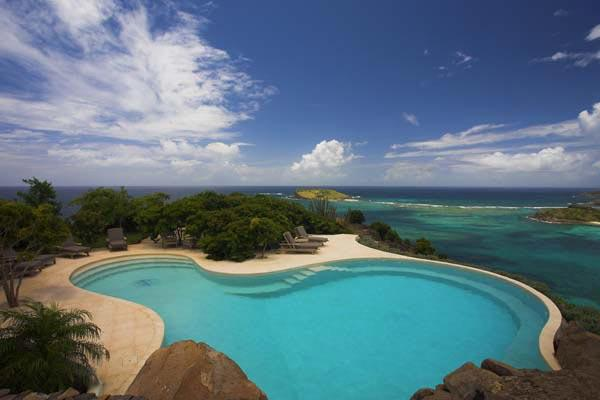 Mediterranean-style villa with unsurpassed ocean & bay views WV JAY - Image 1 - Mont Jean - rentals