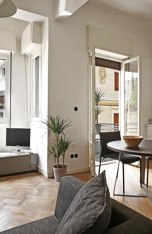 EP3 living room / kitchen - Athens Historical Centre 2 bedroom, balconies WiFi - Athens - rentals