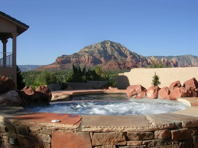 Heated Spa with a View - Sedona Grand - Pool-Spa - Red Rock Views - Luxury - Sedona - rentals