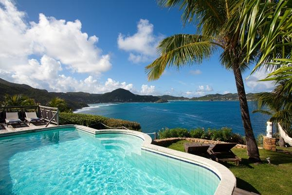 Cliffside villa with dramatic sunset views WV LAN - Image 1 - Pointe Milou - rentals