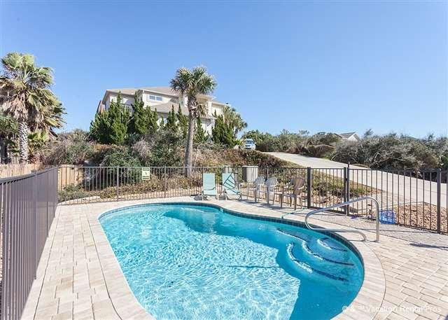 Take a last dip before bed - Amazing Grace Beach Front House, New Pool, Sleeps 12, HDTV - Saint Augustine - rentals