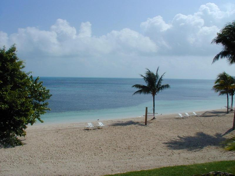Beach view from balcony - Luxury Beachfront Suites (3) at Old Bahama Bay - West End - rentals