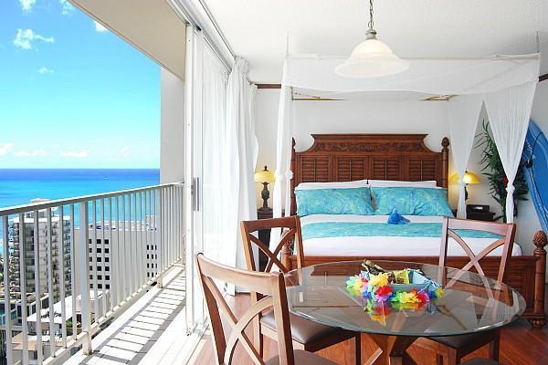 Romantic ocean view studio - Uli Huia - Gorgeous ocean-view romantic suite in Waikiki - Honolulu - rentals
