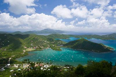 Glorious views extending from Jost Van Dyke and Sandy Cay to the North to Virgin Gorda. - La Mer - Coral Bay - rentals
