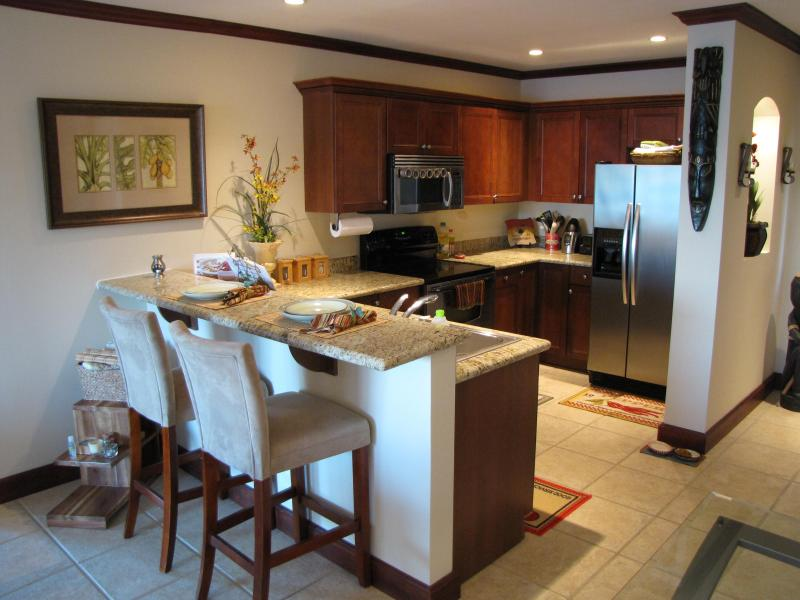 Kitchen stocked with stainless steel appliances - Luxury Oceanview Condo - Steps from the Beach - Playa Flamingo - rentals