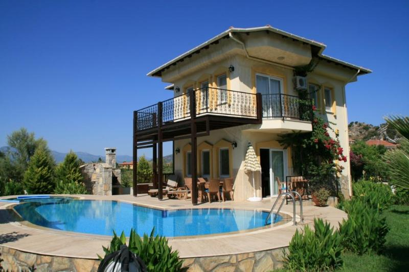 Villa Orkide, Maras Mh, Dalyan - VILLA ORKIDE, pool and jacuzzi with Rock Tomb view - Dalyan - rentals