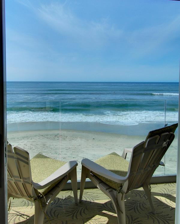 View from your private balcony. - Oceanfront Beachfront Condo Rental - Carlsbad - rentals