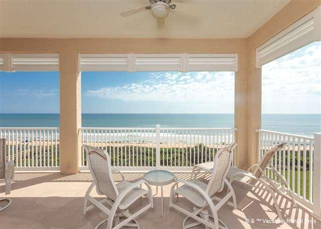 Walk out on our corner balcony and breathe the ocean air - 555 Cinnamon Beach, 5th Floor BeachFront, 3 bedrooms 3 bathrooms - Palm Coast - rentals
