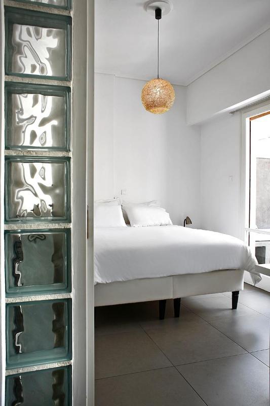 Main bedroom - Acropolis area, one bedrm apt, large terrace, WiFi - Athens - rentals