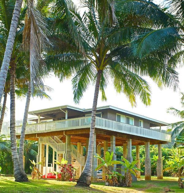 Elevated Moloa'a Stream Side Beach House - Hale Houston - Stream-Side Beach House - Kilauea - rentals
