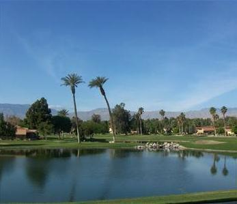 View from our patio - Stunning Water View at Golf/Tennis Resort Condo - Palm Desert - rentals