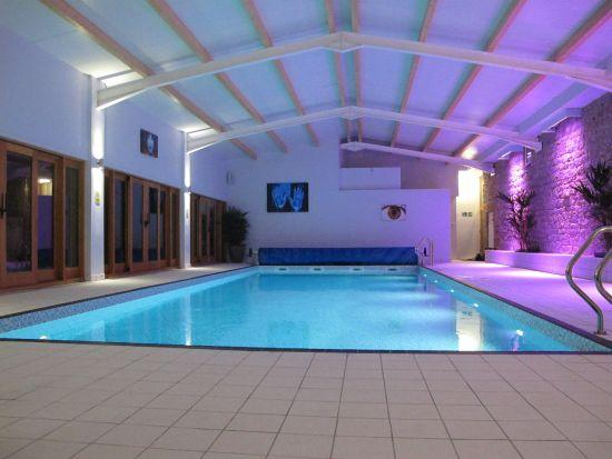 Netherton Indoor Pool at night - Netherton Hall Holidays - Ashbourne - rentals
