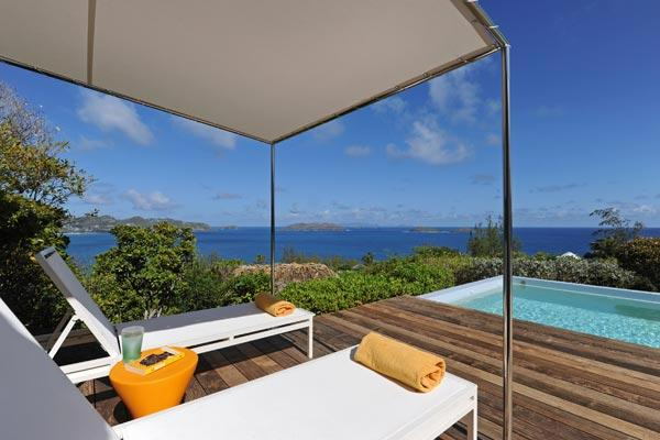 Quiet villa with infinite ocean views from three sides of house WV DKD - Image 1 - Pointe Milou - rentals