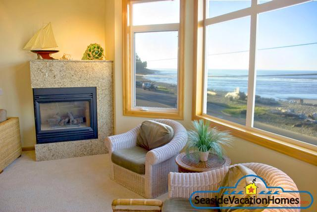 Managed By Seaside Vacation Homes - View of Ocean and Surfers From Living Froom - 2675 Sunset - Eye Of The Storm - Ocean Front - Seaside - rentals