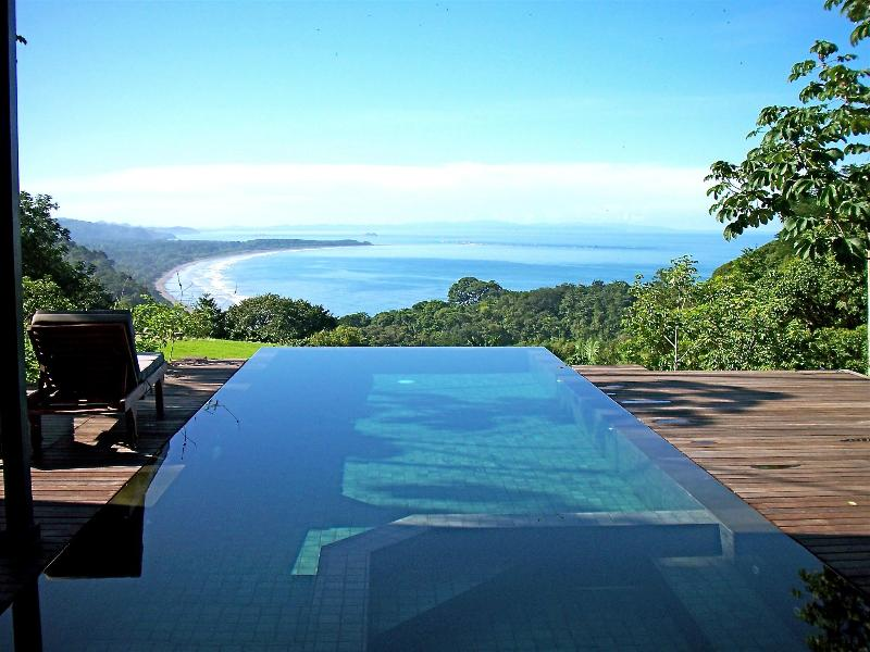 Spectacular view of the Whale's Tail and all the way to the Osa Peninsula. - Lattice House-Bali modern, private nature reserve - Dominical - rentals