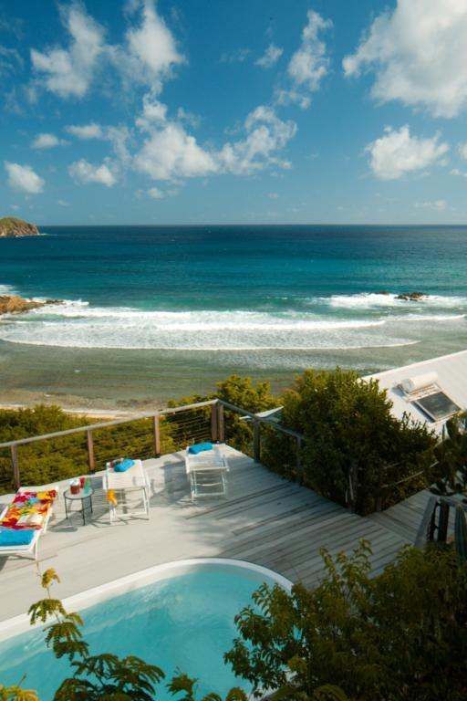 Beautiful view from the pool deck, above the house - 20% Off Mar 21-28 Classic St John Beachfront Renta - Saint John - rentals