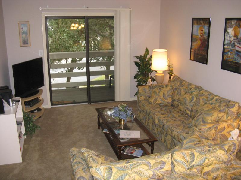 Living room with 40 inch HDTV! - Ready for Summer ? 2BD, Wi-fi! Walk to beach - Hilton Head - rentals