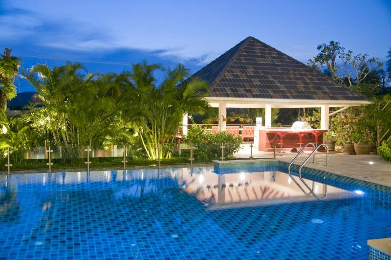12 metre pool with infinity edge with BBQ sala situated over a Koi pond - Fantastic self catering villa with staff on hand - Hua Hin - rentals