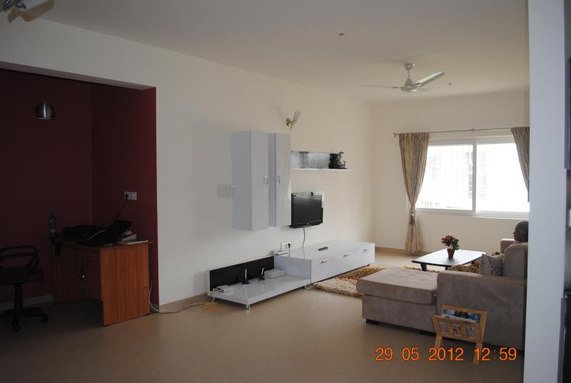 Living room View 1- Day view - Sanurup Vacation Rental serviceapartment,Bangalore - Bangalore - rentals