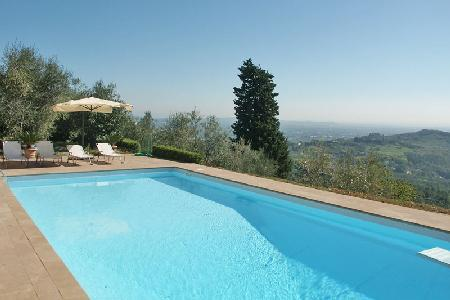 La Rocca- Tuscan décor, pristine grounds, superb countryside views & pool - Image 1 - Lucca - rentals
