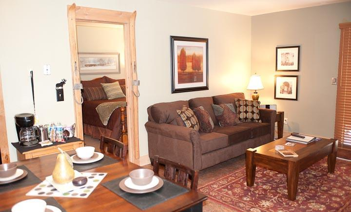 Wide view of living areas - Red Pine T2 - Superior 1/1 at Canyons Resort - Park City - rentals