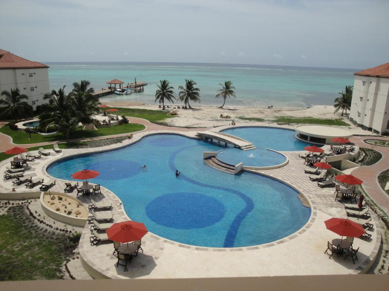 View From Grand Caribe's Main Building. - LUXURY CONDO ON AMBERGRIS...25 STEPS TO CARIBBEAN! - San Pedro - rentals