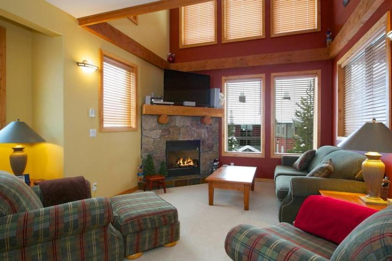 Cozy open plan living room. Now with 47 inch LCD TV Take a look at our Photo Gallery. To view a VIRTUAL TOUR copy and paste the following address in your browser address bar http://www.realbigtours.com/perfection5/ - The Smiths Ski Chalet - British Columbia - rentals