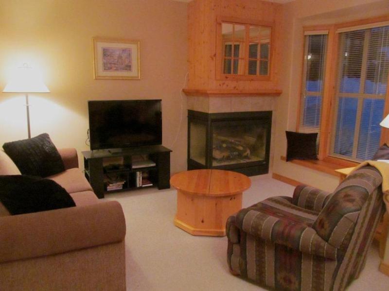 Living Room Area - Unit 19 Crystal Forest - Sun Peaks - rentals