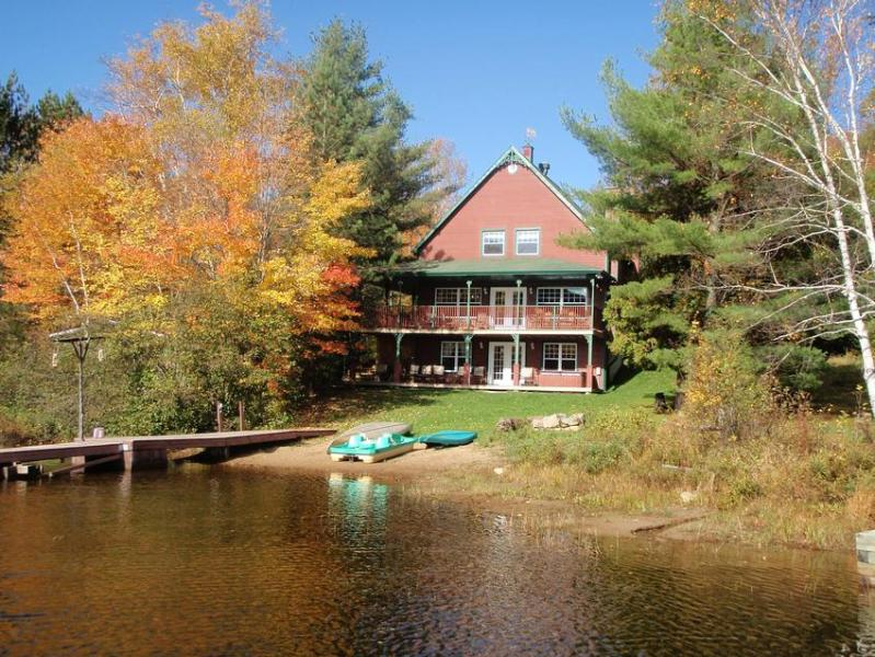 Fall view from Lake - Grand Chalet at Tremblant - La Conception - rentals