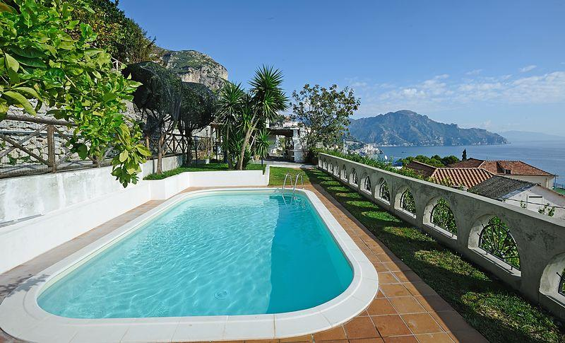 Villa Sofia - with wonderful seaview, garden + pool - Image 1 - Conca dei Marini - rentals