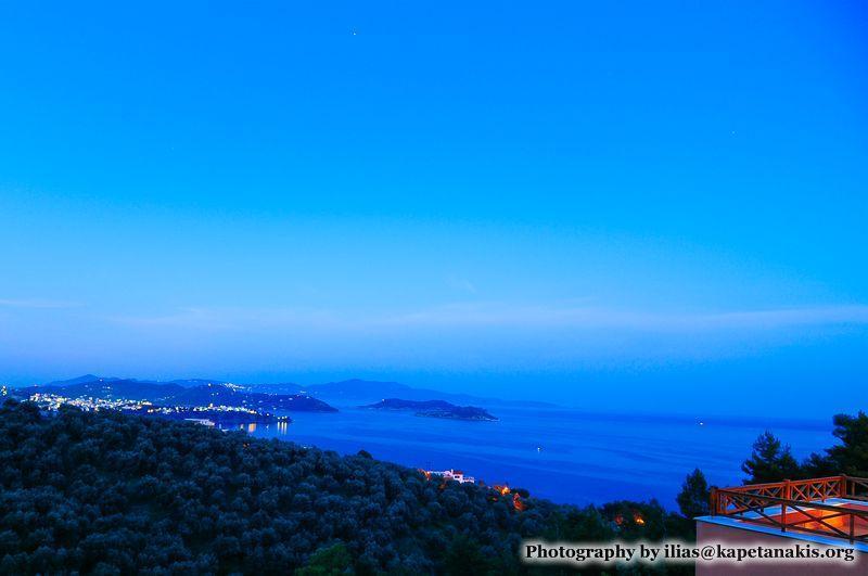 Night landscape view - Luxury villas , private pools, stunning sea view. - Skiathos - rentals